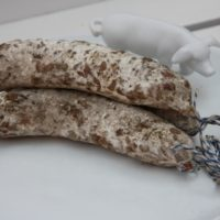 Franse droge worst - Gedroogde worst met eekhoorntjesbrood - Saucisson aux cepes, 180g - Auvergne - 2931014