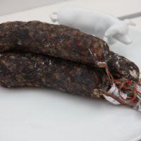 Franse droge worst - Gedroogde worst met rode bessen - Saucisson aux myrtilles, 180g - Auvergne - 2931015