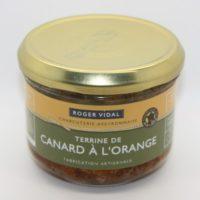 Franse pâté - Terrine van eend met sinaasappel - Terrine de canard à l'orange , 180g - Midi-Pyrénées - 3331010