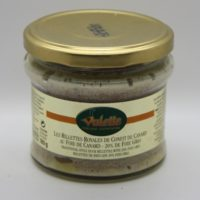 Franse rillettes met foie gras - Rillettes Royales de confit de canard aux foie de canard (20% de foie gras) 180g - Perigord - 3831011