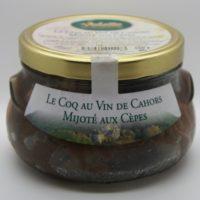 Warme maaltijd - Gevogelte in wijn met eekhoorntjesbrood - Coq au vins de Cahors mijoté aux Cepes - Périgord - 3831020