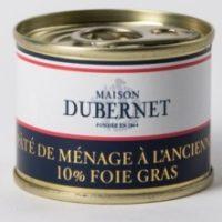 Franse pâté - Ouderwetse pâté met 10% foie gras - pâté de ménage à l'ancienne, 70g - Landes - 5931007