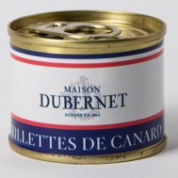 Franse pâté - eenden rillettes - rillettes de canard, 70g - Landes - 5931001