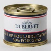 Franse pâté - pâté van Catalaanse kip met 30% foie gras - pâté poularde Catalane 30% foie gras, 70g - Landes - 5931009