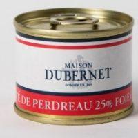 Franse pâté - patrijs pâté met 25% foie gras - pâté de perdreau 25% foie gras, 70g - Landes - 5931014